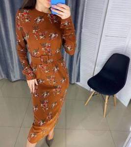 Платье длинное с длинными рукавами Я1948