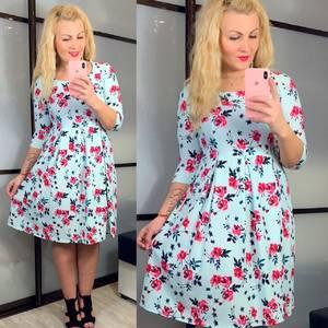 Платье короткое нарядное голубое Х9251