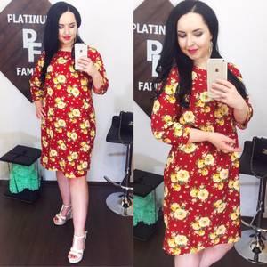 Платье короткое нарядное красное Х9255