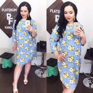 Платье короткое нарядное голубое Х9253