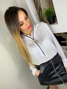 Блуза с длинным рукавом Ц0191