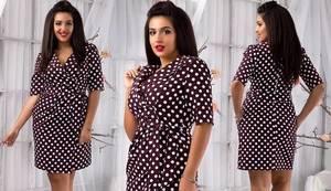 Платье короткое нарядное с принтом Х6772