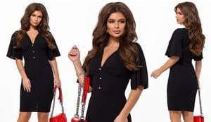Платье короткое нарядное черное Х6780