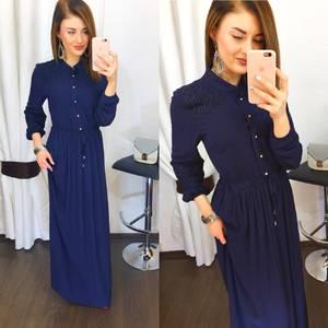 Платье длинное однотонное Х8088