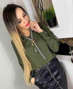 Блуза с длинным рукавом Ц0192