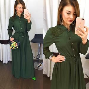 Платье длинное однотонное Х8089