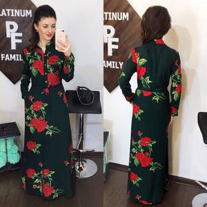 Платье длинное с принтом Х8090