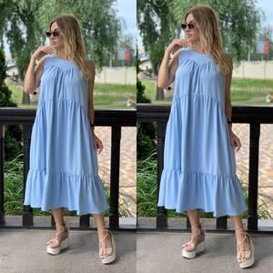 Платье длинное летнее Я7859