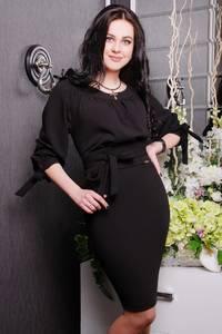 Платье короткое с рукавом 3/4 черное Ц0151
