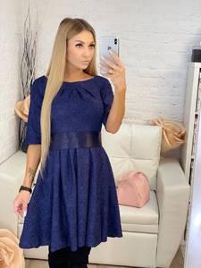 Платье короткое коктейльное однотонное Х1195
