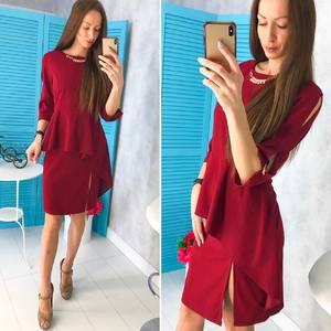 Платье короткое нарядное современное Х9756