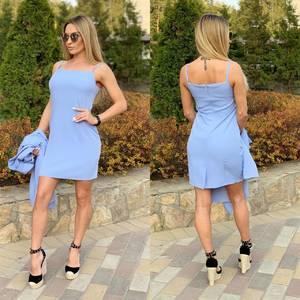 Платье Двойка короткое элегантное Ш4171