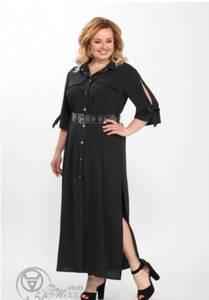Платье длинное однотонное Я7861