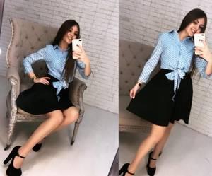 Платье короткое нарядное с рукавом 3/4 Х8670