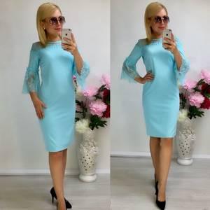 Платье короткое нарядное облегающее Т8042