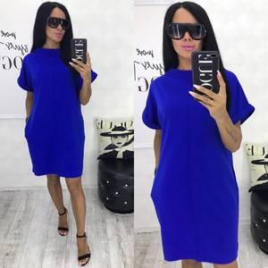 Платье короткое синее Ч6688