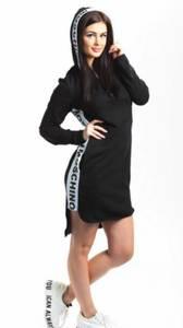 Платье короткое повседневное черное Т8272