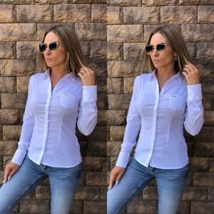 Рубашка с длинным рукавом из хлопка Т8119
