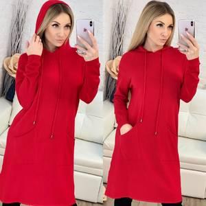 Платье короткое повседневное с длинным рукавом Ф9483