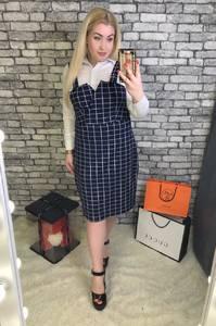Платье Двойка короткое офисное Я3473