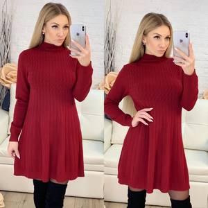 Платье короткое трикотажное с длинным рукавом Ф9492