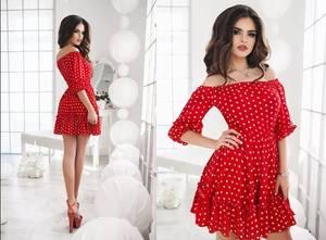 Платье короткое коктейльное с рукавом 3/4 Х2359