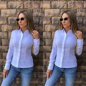 Рубашка с длинным рукавом из хлопка Т8120