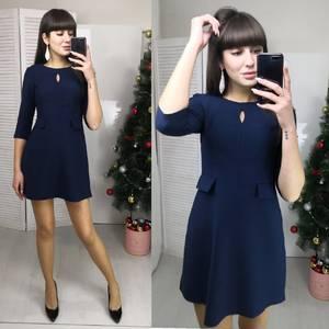 Платье короткое с рукавом 3/4 классическое Ф5794