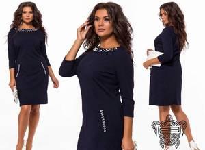 Платье короткое нарядное черное Х6766