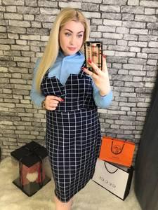 Платье Двойка короткое офисное Я3474