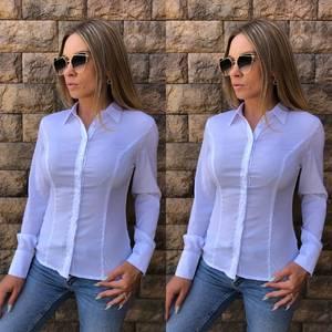 Рубашка с длинным рукавом из хлопка Т8121