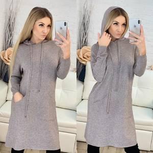 Платье короткое повседневное с длинным рукавом Ф9485