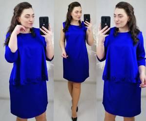 Платье короткое нарядное однотонное Х8673
