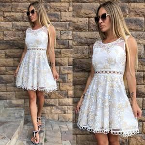 Платье короткое с принтом летнее Т8160