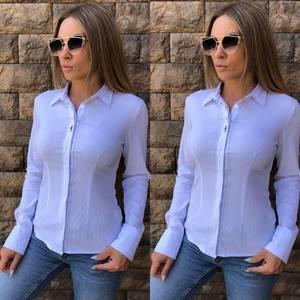 Рубашка с длинным рукавом из хлопка Т8122