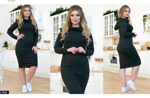 Платье короткое с длинным рукавом Ш1916