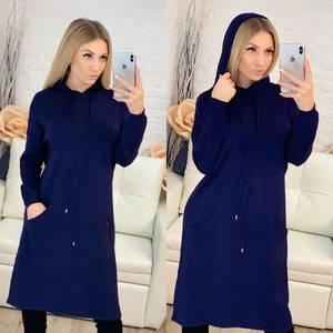 Платье короткое повседневное с длинным рукавом Ф9488