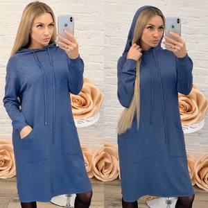 Платье короткое повседневное с длинным рукавом Ф9489