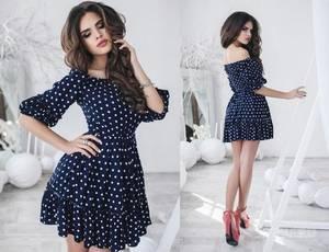 Платье короткое коктейльное современное Х2356
