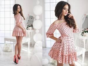 Платье короткое коктейльное современное Х2357