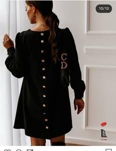 Платье короткое с длинным рукавом Ю4113