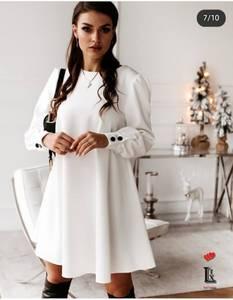 Платье короткое с длинным рукавом Ю4114
