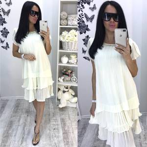 Платье короткое белое летнее Т2195