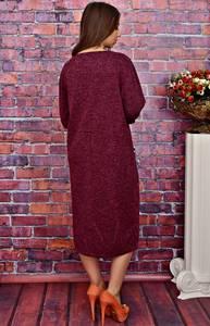 Платье длинное офисное однотонное Т4274
