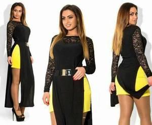 Платье длинное черное классическое Т5009