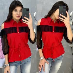 Блузка с коротким рукавом А30799