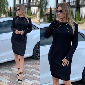Платье короткое с длинным рукавом А11326