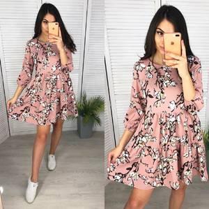 Платье короткое с принтом А11876