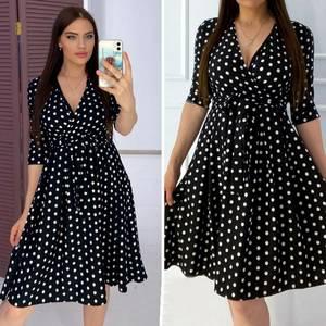 Платье короткое с рукавом 3/4 А05264