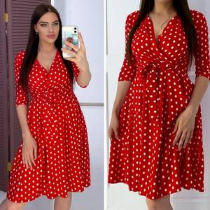 Платье короткое с рукавом 3/4 А05265